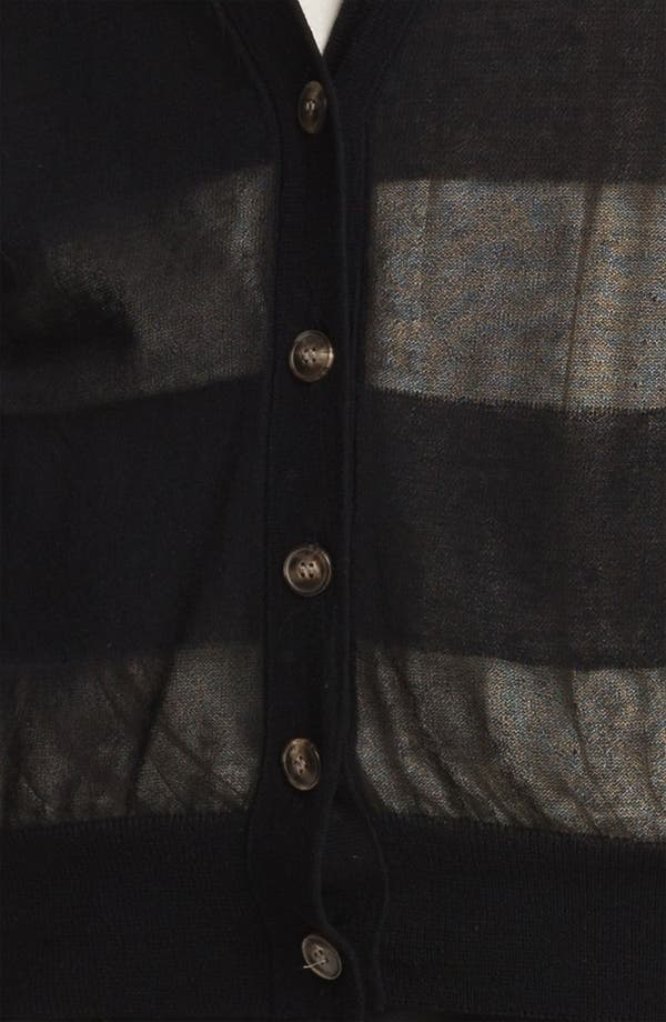 Alternate Image 7  - Halston Heritage Sheer Cardigan