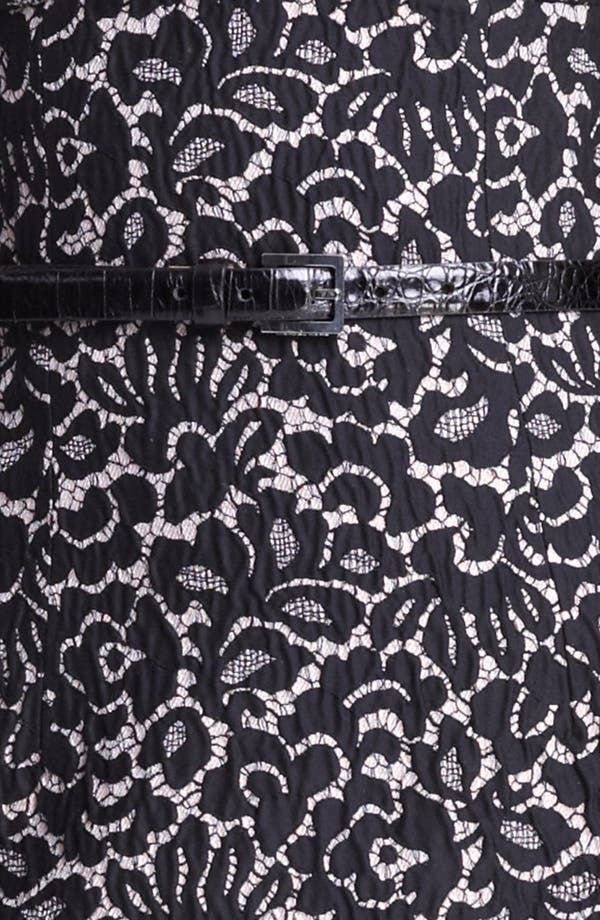 Alternate Image 3  - Michael Kors Strapless Featherweight Lace Jacquard Dress