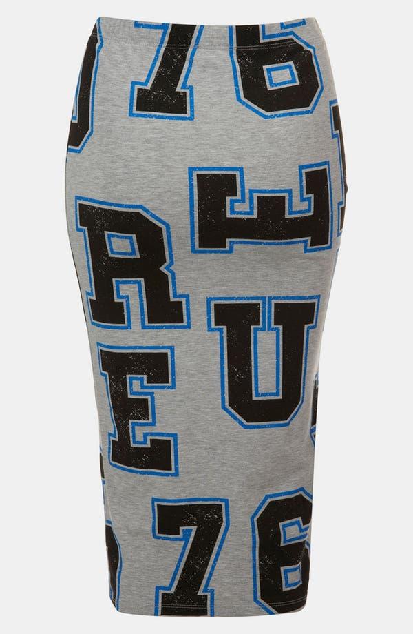 Alternate Image 2  - Topshop 'Letters' Print Midi Skirt