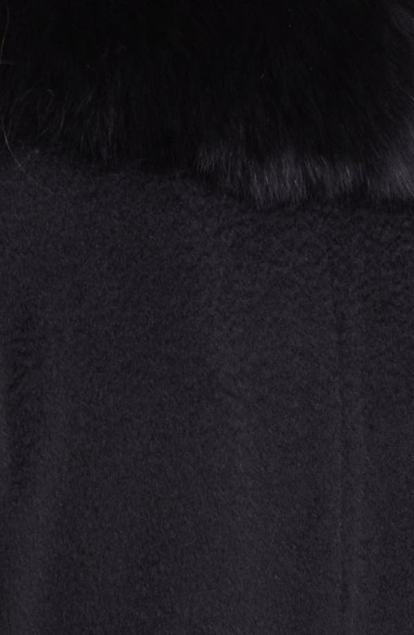 Alternate Image 3  - Max Mara Camel's Hair Swing Coat with Genuine Fur Collar
