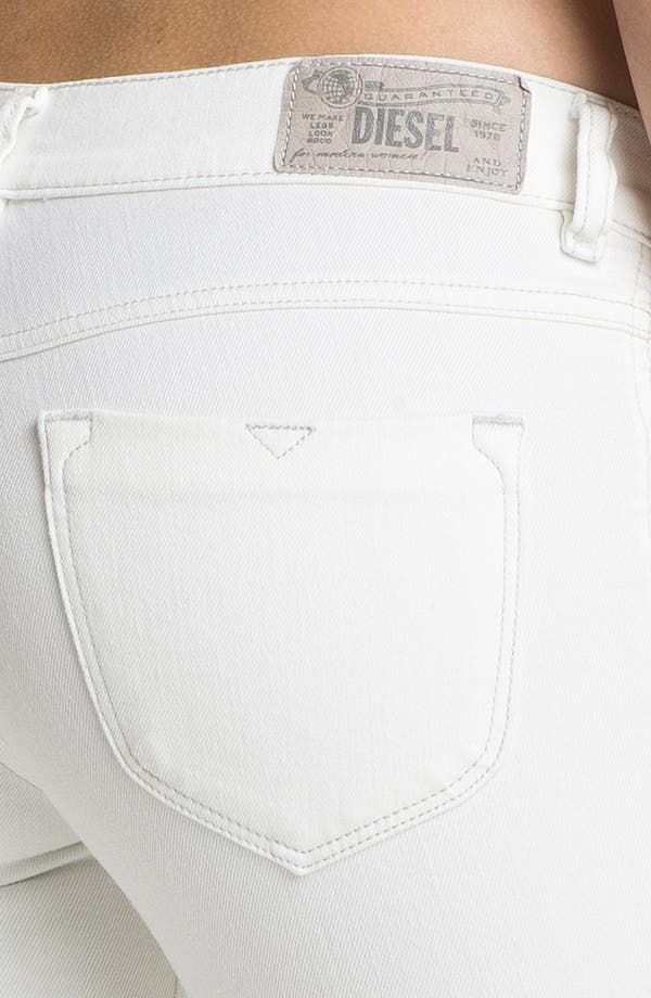 Alternate Image 3  - DIESEL® 'Livier' Ankle Skinny Jeans (White)