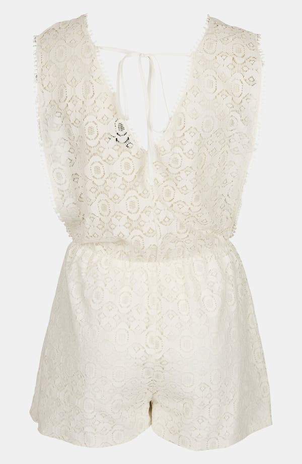 Alternate Image 2  - Topshop Lace Cover-Up Romper