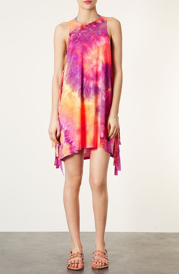 Alternate Image 1 Selected - Topshop Tie Dye Tank Cover-Up