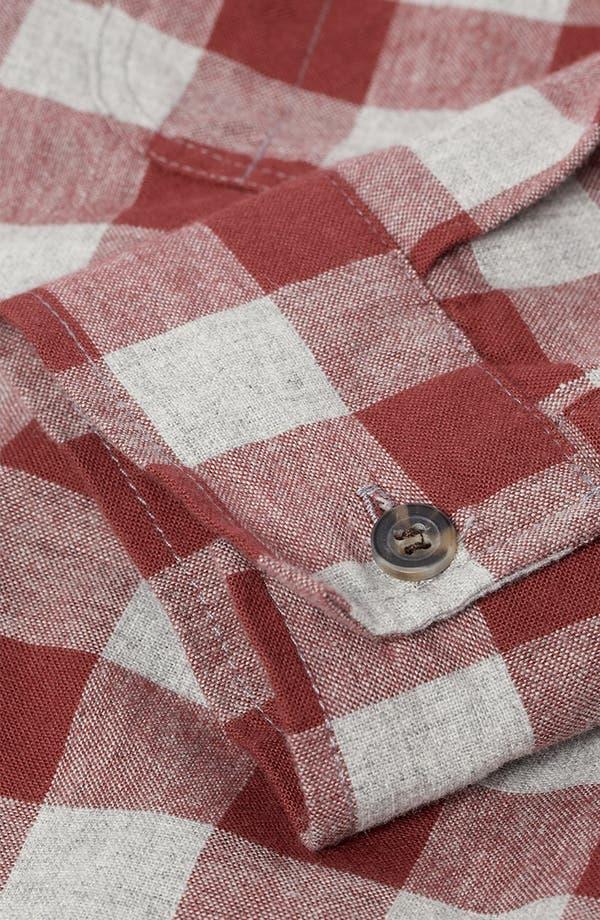 Alternate Image 3  - Topman Check Woven Shirt
