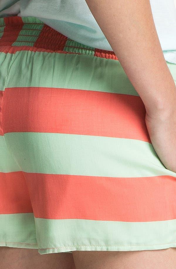 Alternate Image 3  - Splendid Neon Stripe Smock Waist Shorts