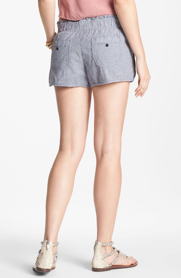 Alternate Image 2  - Jolt Stripe Dolphin Shorts (Juniors) (Online Only)