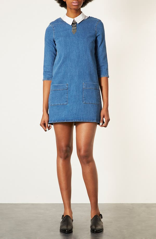 Alternate Image 1 Selected - Topshop Denim Tunic Dress