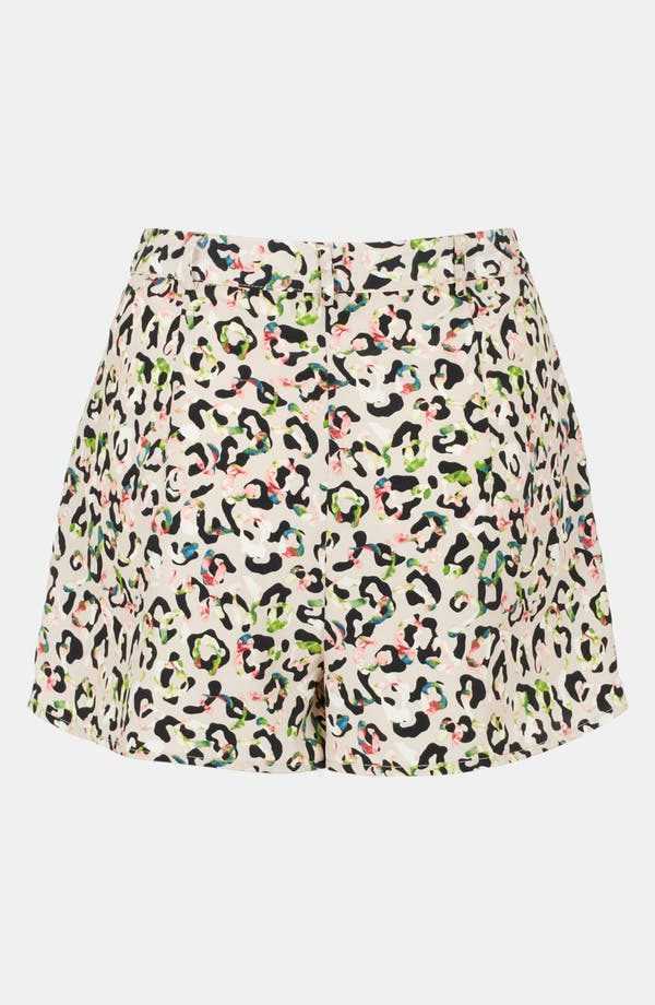 Alternate Image 2  - Topshop Animal Print High Waist Shorts
