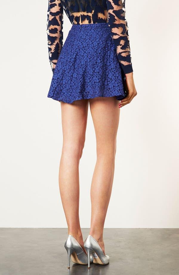 Alternate Image 4  - Topshop Lace Skater Skirt