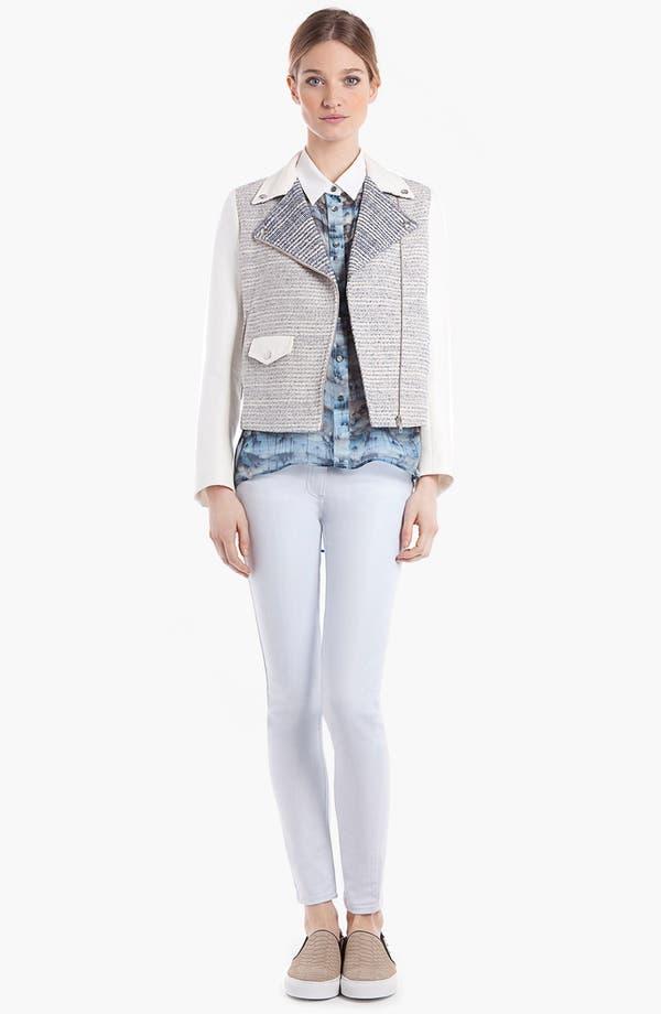 Main Image - sandro 'Vernis' Tweed Moto Jacket