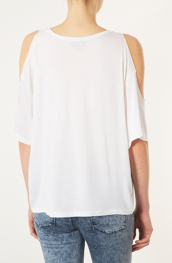 Alternate Image 3  - Topshop Open Shoulder Tee