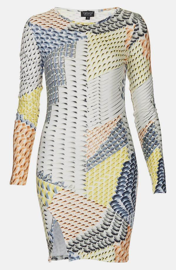 Alternate Image 1 Selected - Topshop Geo Tile Body-Con Dress