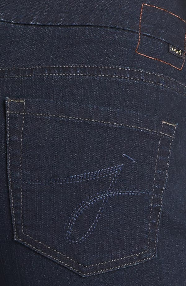 Alternate Image 3  - Jag Jeans 'Peri' Pull-On Straight Leg Jeans (Petite) (After Midnight)