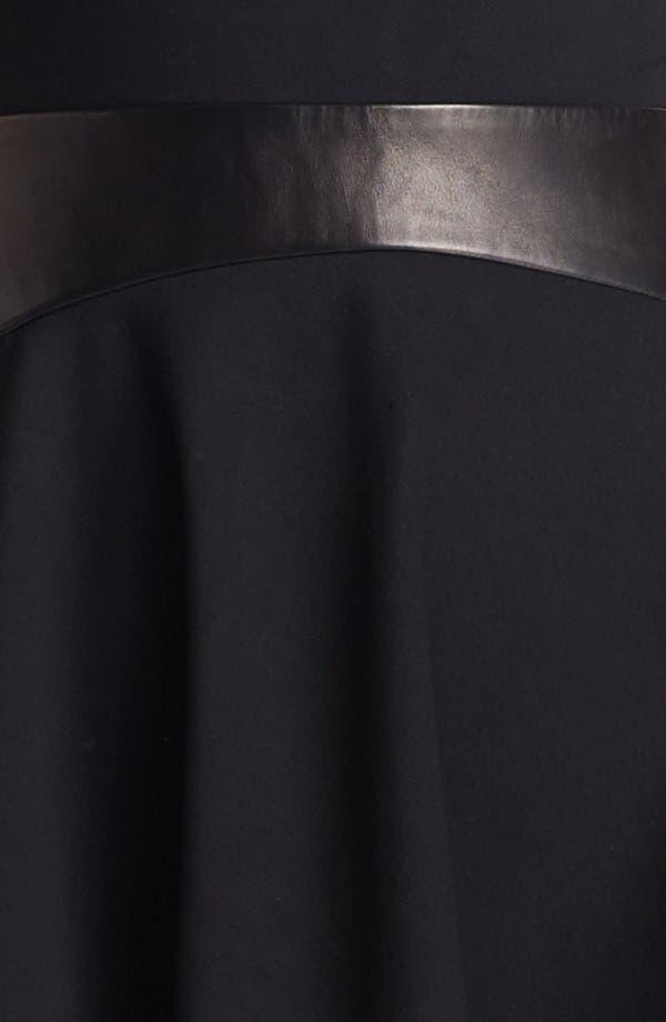 Alternate Image 3  - Diane von Furstenberg 'Delyse' Leather Trim Dress