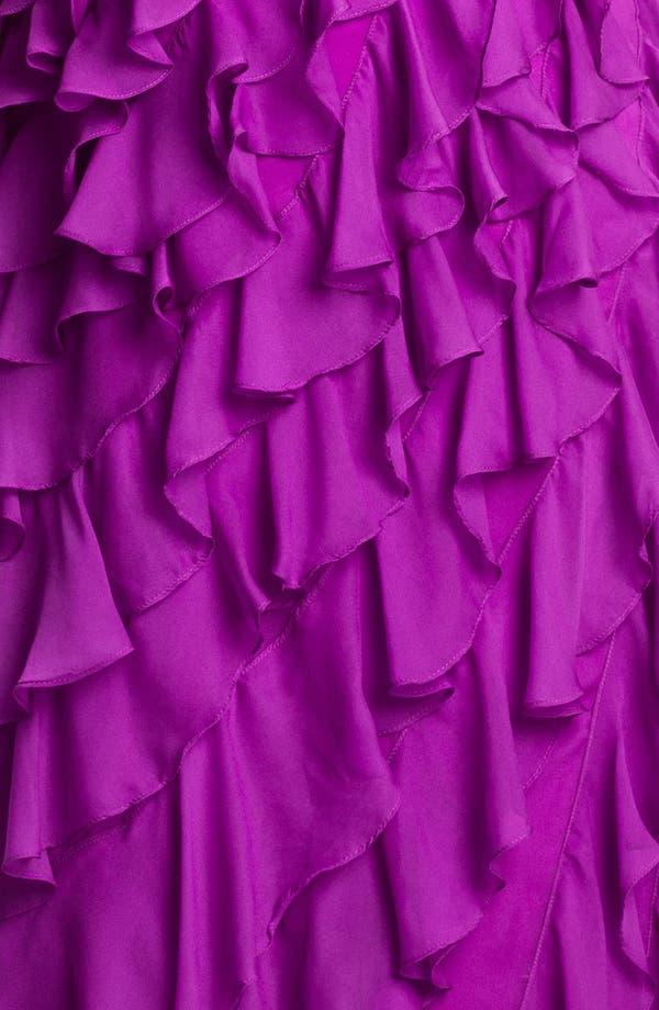 Alternate Image 3  - Dalia MacPhee Ruffled Chiffon Gown (Juniors Plus)