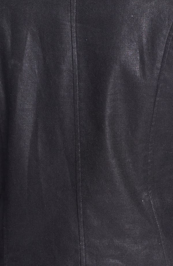 Alternate Image 3  - LaMarque Coated Moto Jacket with Leather Sleeves