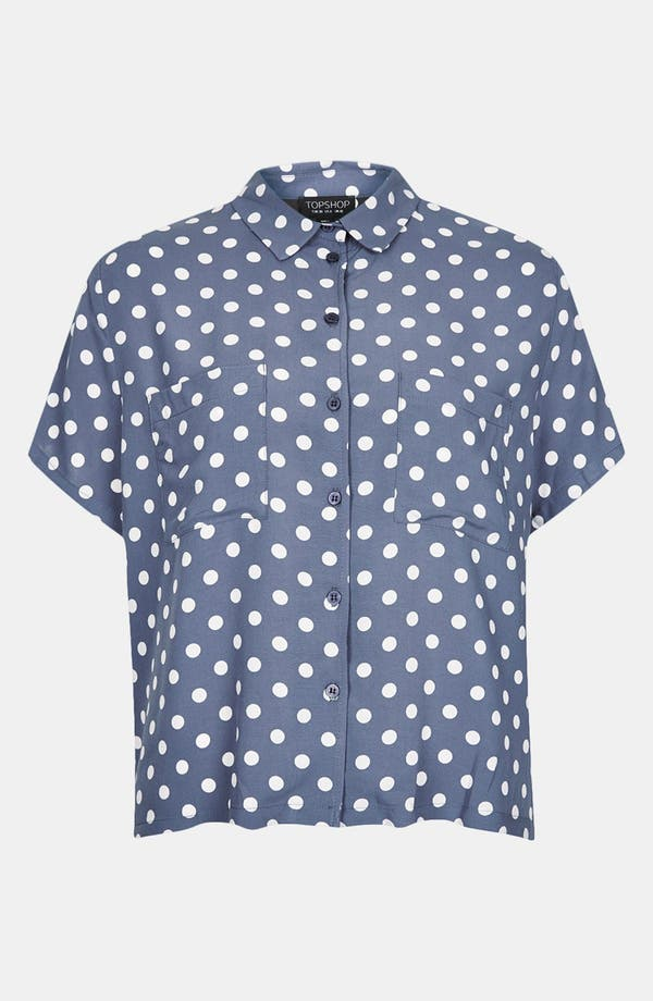 Alternate Image 3  - Topshop Polka Dot Shirt