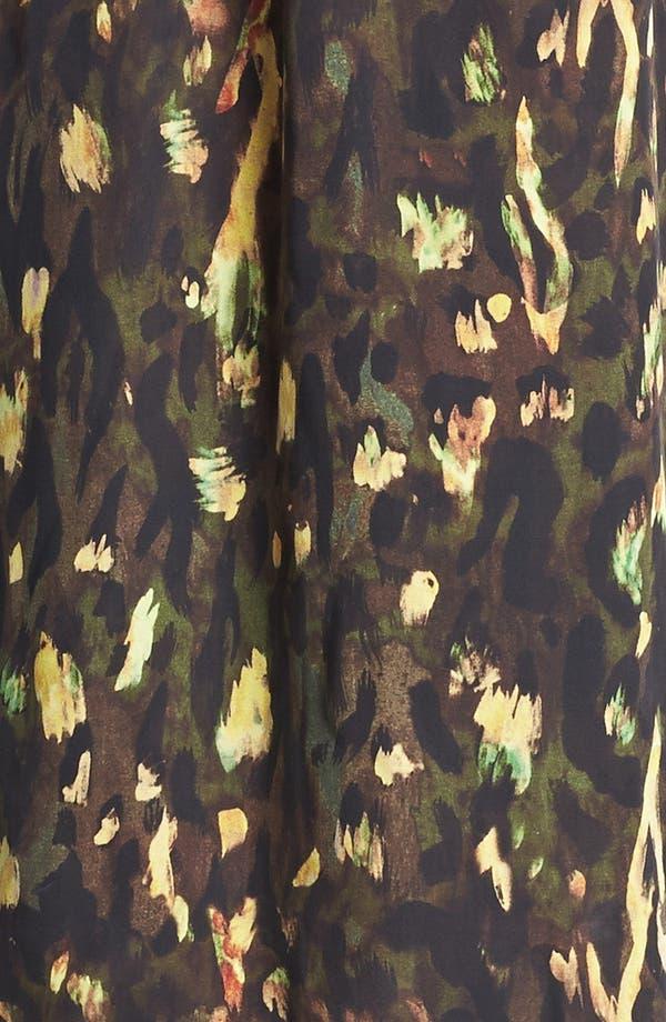 Alternate Image 3  - Haute Hippie Print Silk Halter Minidress