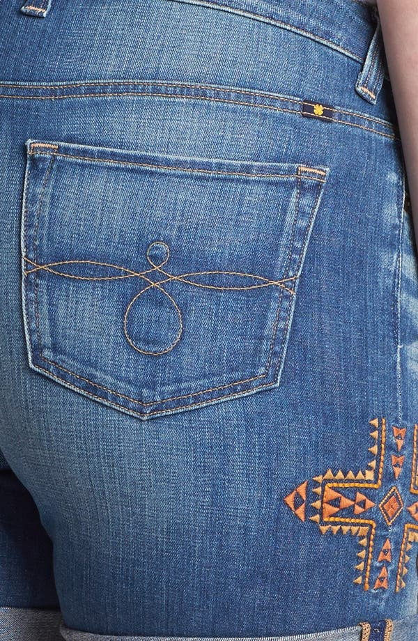 Alternate Image 3  - Lucky Brand 'Ginger' Embroidered Jean Shorts (Plus Size)