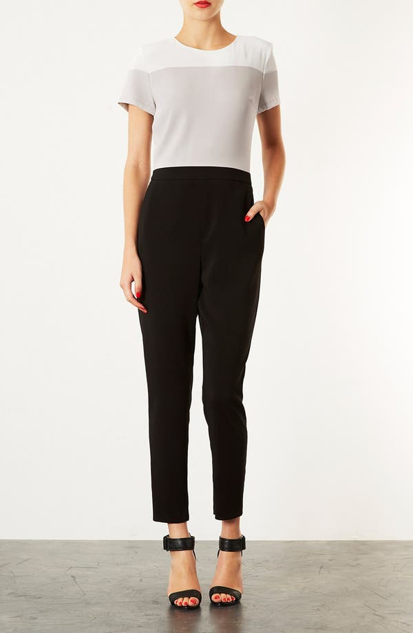 Alternate Image 1 Selected - Topshop Colorblock Jumpsuit
