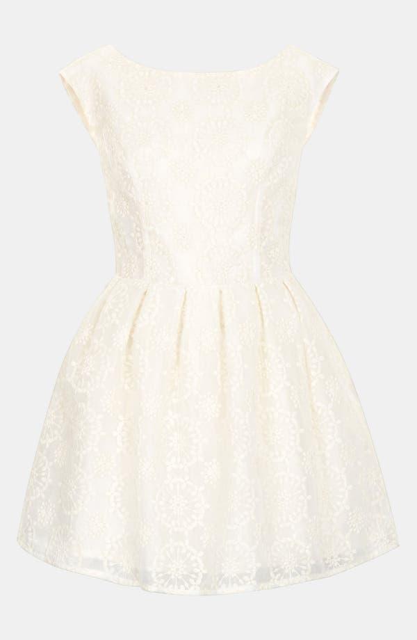Alternate Image 3  - Topshop Embroidered V-Back Dress