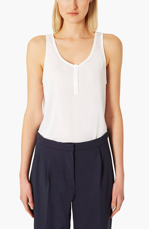 Alternate Image 1 Selected - Topshop Button Tank