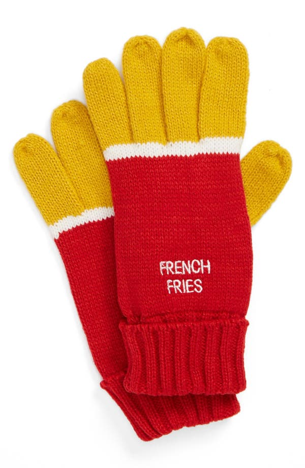 Alternate Image 1 Selected - The Accessory Collective 'French Fry' Gloves (Girls)