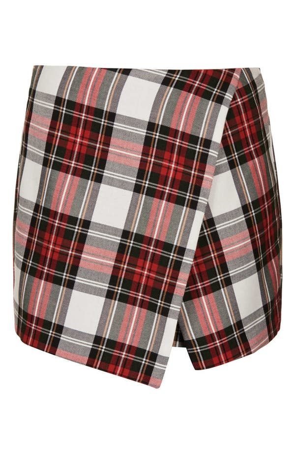 Alternate Image 3  - Topshop Plaid Asymmetrical Skort