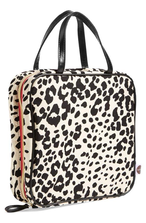 Main Image - steph&co. 'Marissa - Leopard' Nylon Cosmetics Case (Nordstrom Exclusive)