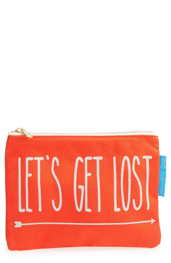 Alternate Image 1 Selected - Flight 001 'Let's Get Lost' Travel Pouch