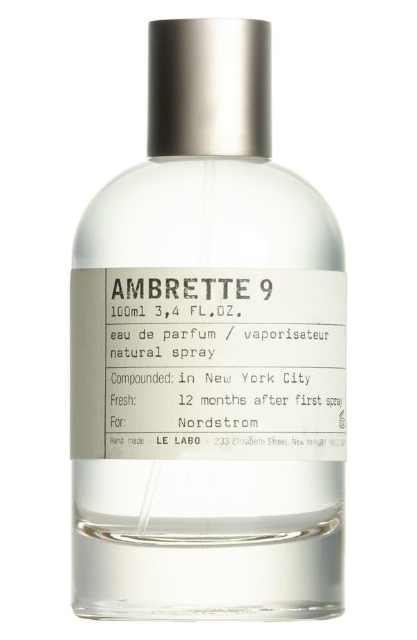 Alternate Image 1 Selected - Le Labo 'Ambrette 9' Eau de Parfum