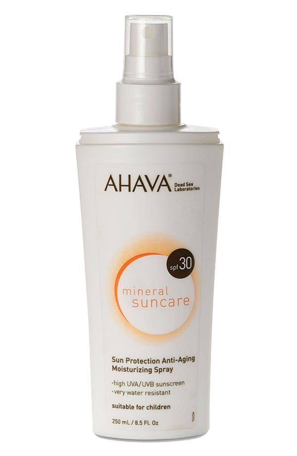 Alternate Image 1 Selected - AHAVA 'Mineral Suncare' Sun Protection Anti-Aging Moisturizing Spray SPF 30
