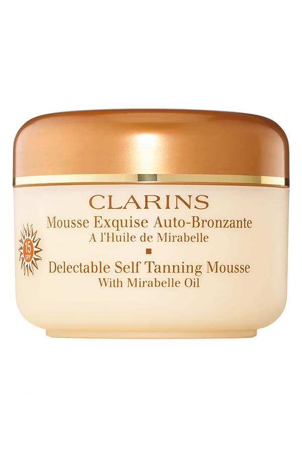 Alternate Image 1 Selected - Clarins 'Delectable' Self Tanning Mousse with Mirabelle Oil
