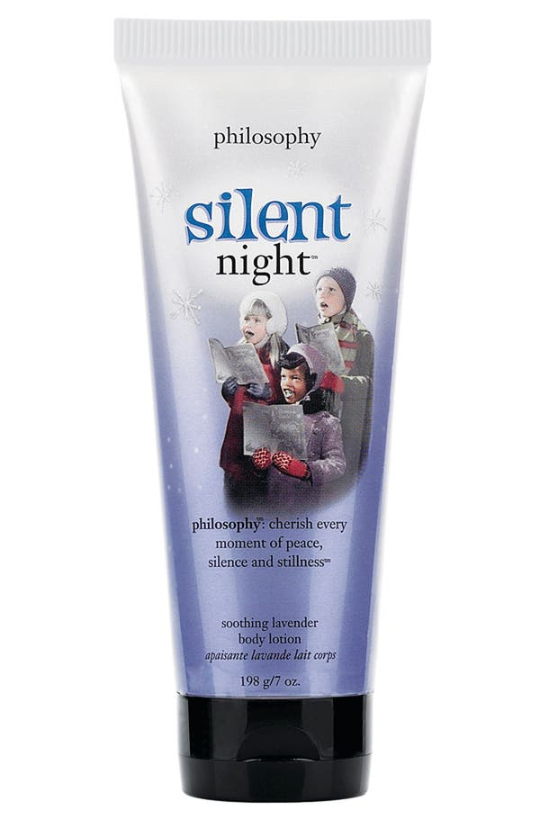 Alternate Image 1 Selected - philosophy 'silent night' soothing lavender body lotion
