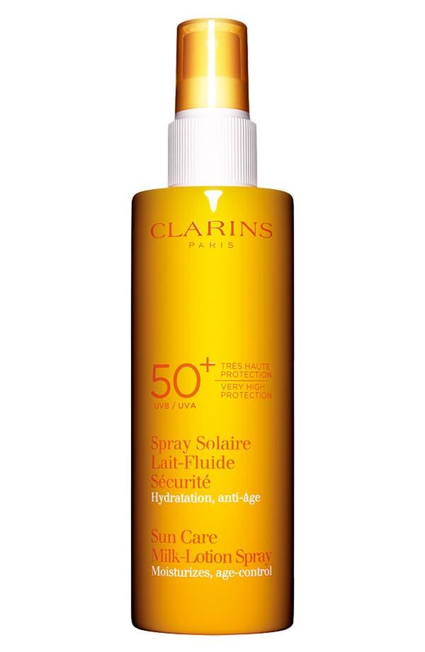 Main Image - Clarins Sun Care Milk-Lotion Spray SPF 50+