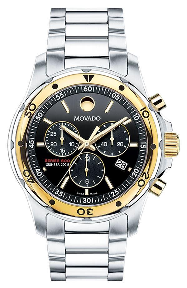 Alternate Image 1 Selected - Movado 'Series 800' Chronograph Bracelet Watch