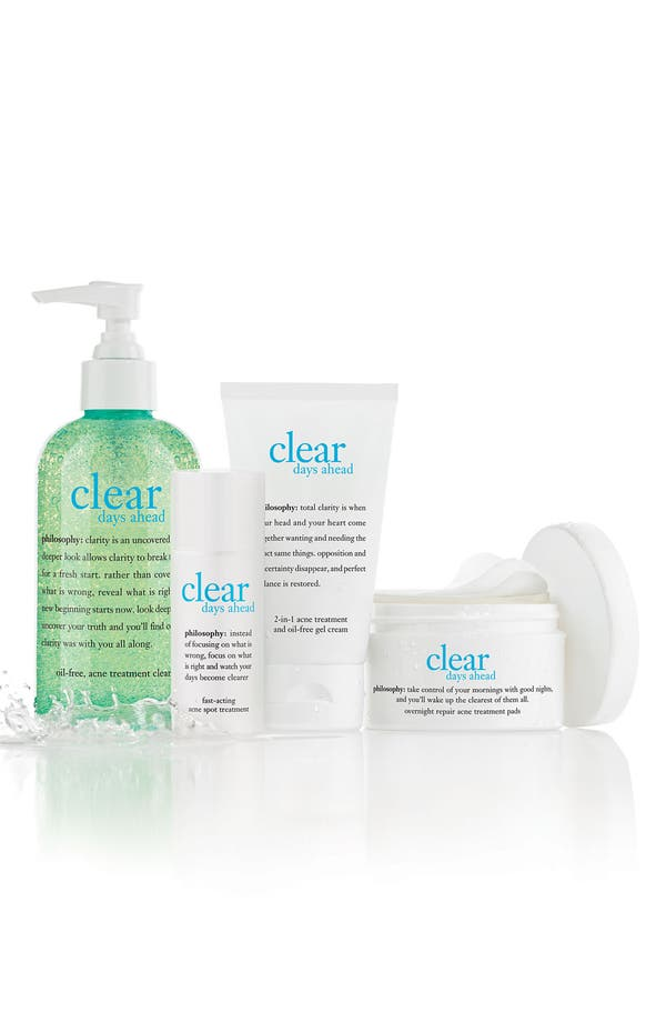 Alternate Image 2  - philosophy 'clear days ahead overnight repair' acne treatment pads