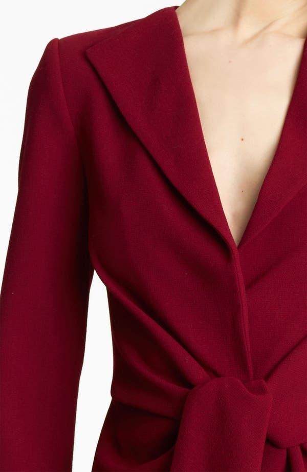 Alternate Image 3  - Oscar de la Renta Tie Waist Wool Crepe Jacket