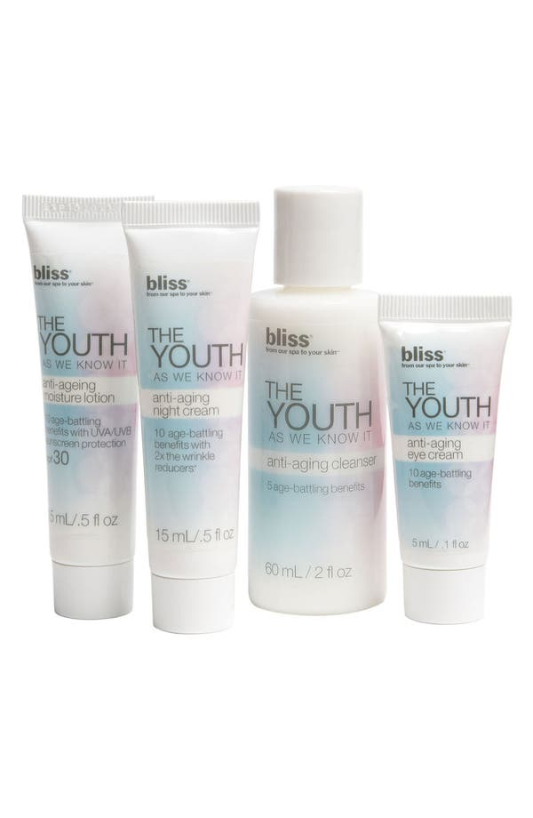 Alternate Image 1 Selected - bliss® 'The Youth as We Know It' Anti-Aging Spa Facial Kit