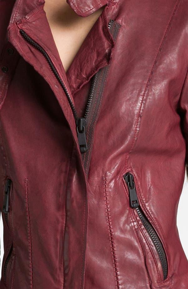 Alternate Image 2  - Andrew Marc Asymmetrical Leather Moto Jacket