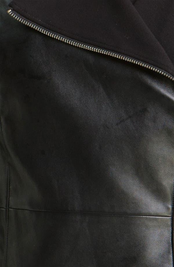 Alternate Image 3  - DKNYC Faux Leather Moto Jacket (Plus)