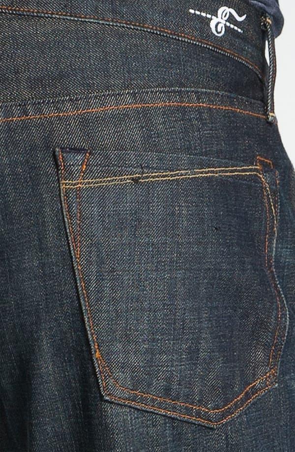 Alternate Image 4  - Earnest Sewn 'Dexter' Relaxed Straight Leg Jeans (Maz Dark)