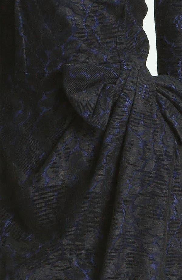 Alternate Image 3  - David Meister Textured Bow Detail Sheath Dress