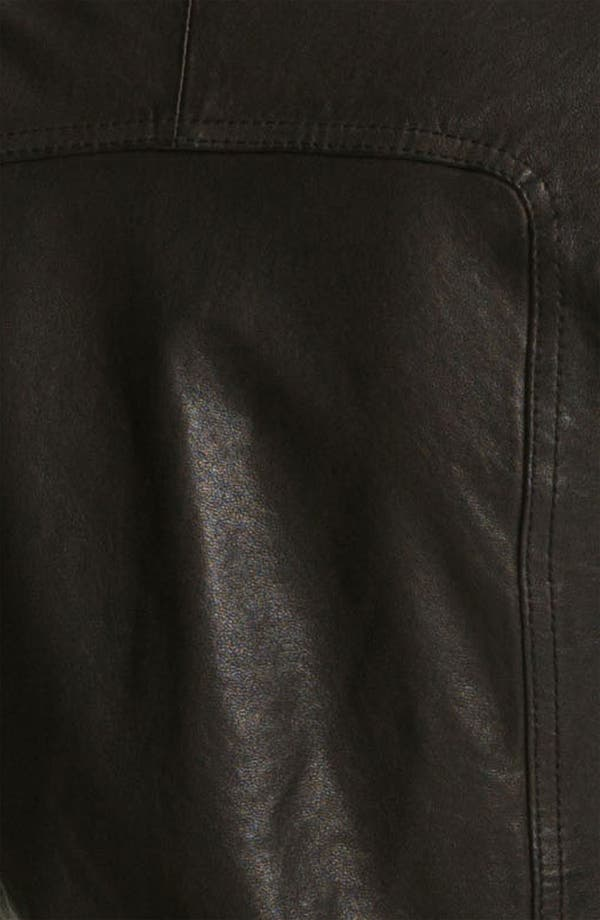 Alternate Image 3  - June Leather Biker Jacket