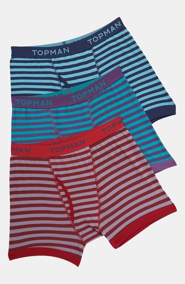 Alternate Image 1 Selected - Topman Stripe Boxer Briefs (3-Pack)
