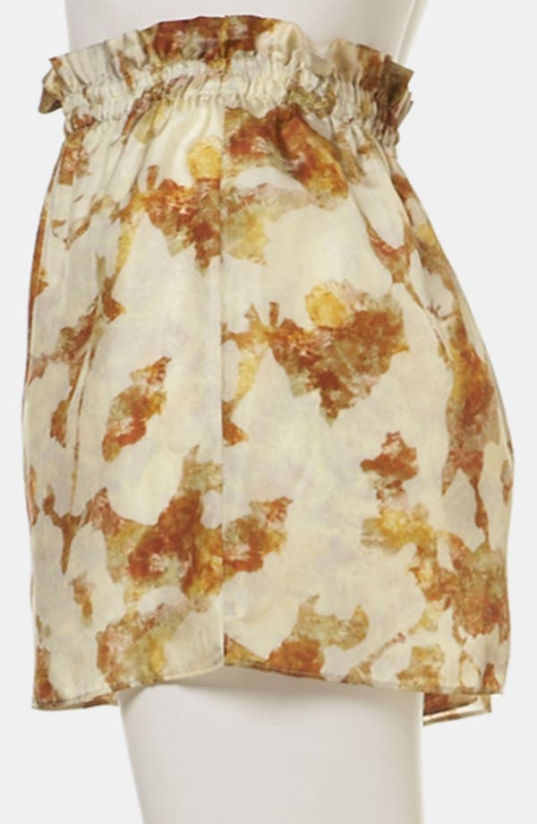 Alternate Image 4  - Topshop Desert Camo Silk Shorts