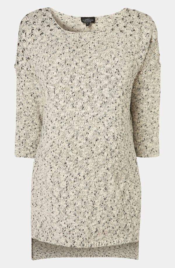 Main Image - Topshop Stud Shoulder Maternity Sweater Tunic