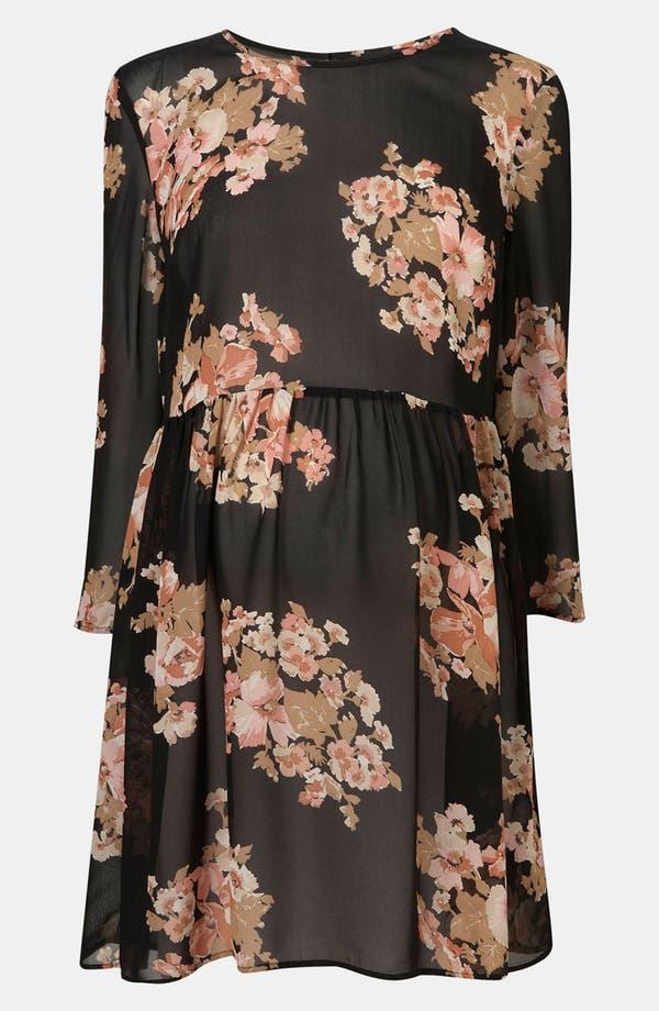 Main Image - Topshop Floral Print Cutout Back Maternity Tunic