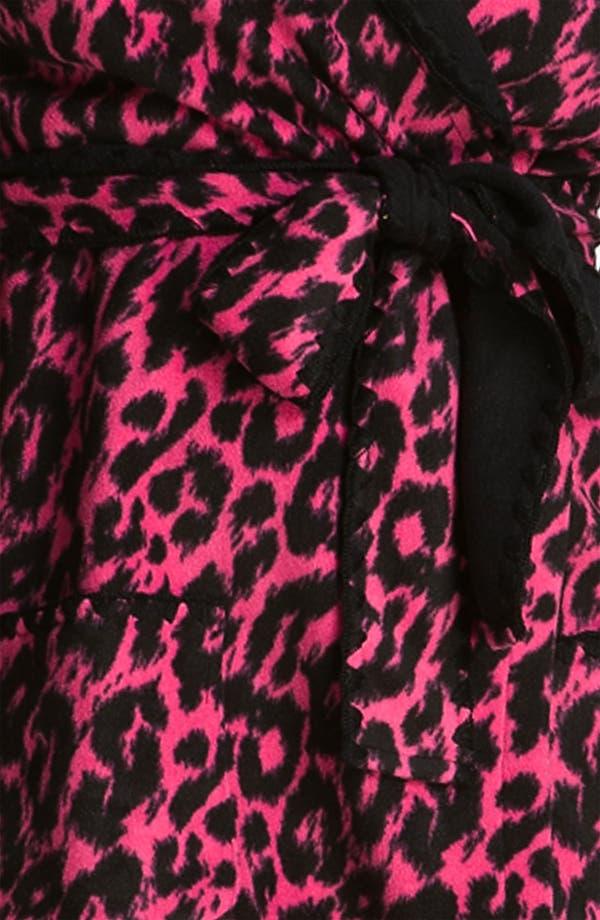 Alternate Image 3  - Betsey Johnson Hooded Microfleece Robe (Plus)