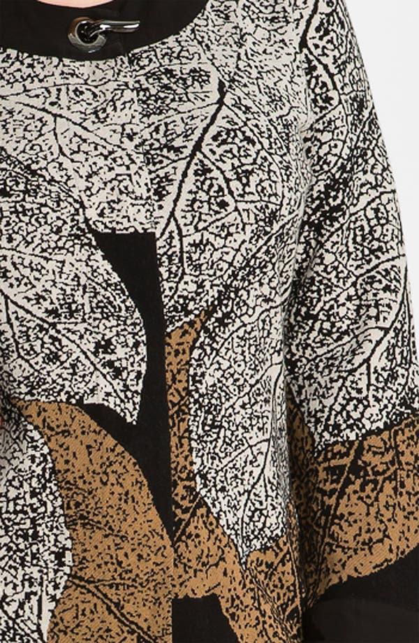 Alternate Image 3  - Nic + Zoe 'Elegant Leaves' Sweater Jacket (Plus)